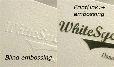 MorningPrint Business Cards Press Embossing Blind