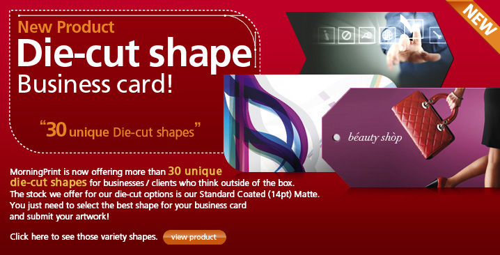 die-cut shape business card
